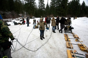 On the set of Box Walk in rural Central Washington. Photo courtesy of production.
