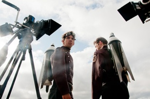 On the set of Rocketmen in Seattle. Photo by Bronwen Houck Photography.
