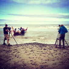 Clearwater filming on the Olympic Peninsula. Photo by Melissa Woodrow.