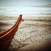 The No Ked Jak canoe. Photo courtesy of Melissa Woodrow.