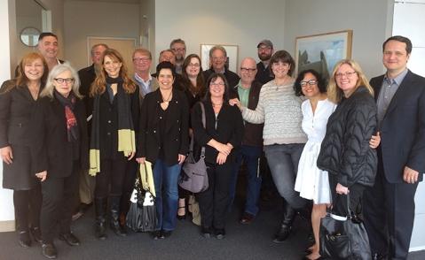 Seattle film community representatives meet with Mayor Ed Murray.