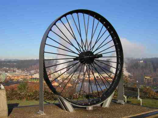 Big Wheel Saw Shelton Lookout, Photo Courtesy Shelton Mason County Chamber