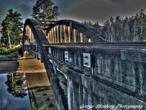 Hamma Hamma River at North Fork Bridge, P hoto by George Strenburg